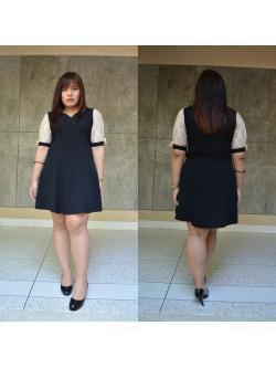 พร้อมส่งชุดดำ สำหรับสาวอวบ++ F 36-42นิ้ว T5100