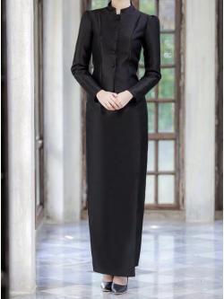 พร้อมส่งชุดไทยจิตรดาสีดำ Size ,3XLอก 38-44