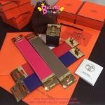 Hermes Kelly Bracelet สีชมพูบานเย็น, สีแดง, สีน้ำเงิน, สีดำ ,สีเทา