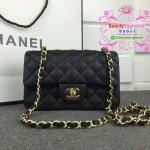 Chanel mini สีดำ งานHiend 1:1 หนังแท้ หนังcaviar งานเนี๊ยบสวยเป๊ะ