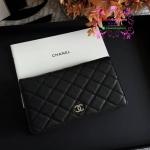 Chanel wallet สีดำ งานHiend งานเนี๊ยบสวยเป๊ะ หนังแท้ หนังCaviar