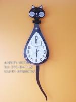 ของขวัญขึ้นบ้านใหม่เก๋ๆสไตล์ Modern นาฬิกาแขวนรูปแมวเหมียว