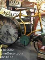 นาฬิกาตั้งโต๊ะตกแต่งบ้าน สไตล์วินเทจ รูปจักรยานโบราณเก่าๆ