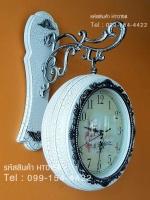 นาฬิกาติดผนังประดับตกแต่งบ้านแนววินเทจ รุ่น HT0158 สีขาวแตกลายงา