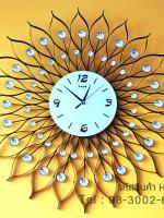 ของที่ระลึกวันขึ้นบ้านใหม่ นาฬิกาแขวนรูปดวงตะวันประดับประดับพลอยเก๋ๆไม่เหมือนใคร