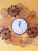 นาฬิกาแขวนผนังสำหรับตกแต่งบ้านใหม่ รุ่นพลุดอกไม้กลม