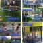 แทรมโพลีน 10 ฟุต colorful สปริงบอร์ดออกกำลังกาย เพิ่มความสูง สำหรับ เด็ก 4 คน thumbnail 2