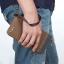 WL02-Gray กระเป๋าสตางค์ใบยาว กระเป๋าสตางค์ผู้ชาย ผ้าแคนวาส สีเทา thumbnail 8