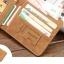 WS09-Gray กระเป๋าสตางค์ใบสั้น แนวนอน กระเป๋าสตางค์ผู้ชาย หนัง PU เกรดเอ สีเทา thumbnail 7