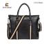 LT41-Black กระเป๋าถือผู้ชาย + สะพายข้าง หนัง PU สีดำ thumbnail 2