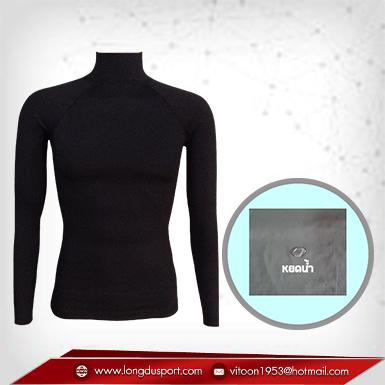 ชุดดำน้ำ สีดำ รุ่น extra (สุดยอดผ้ายืดผิวผ้าลื่น) Size พิเศษ 2XL