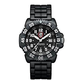Luminox รุ่น Luminox 3052 Men's Sea Navy Seal Colormark Black Dial Black Polyurethane Bracelet Dive Watch