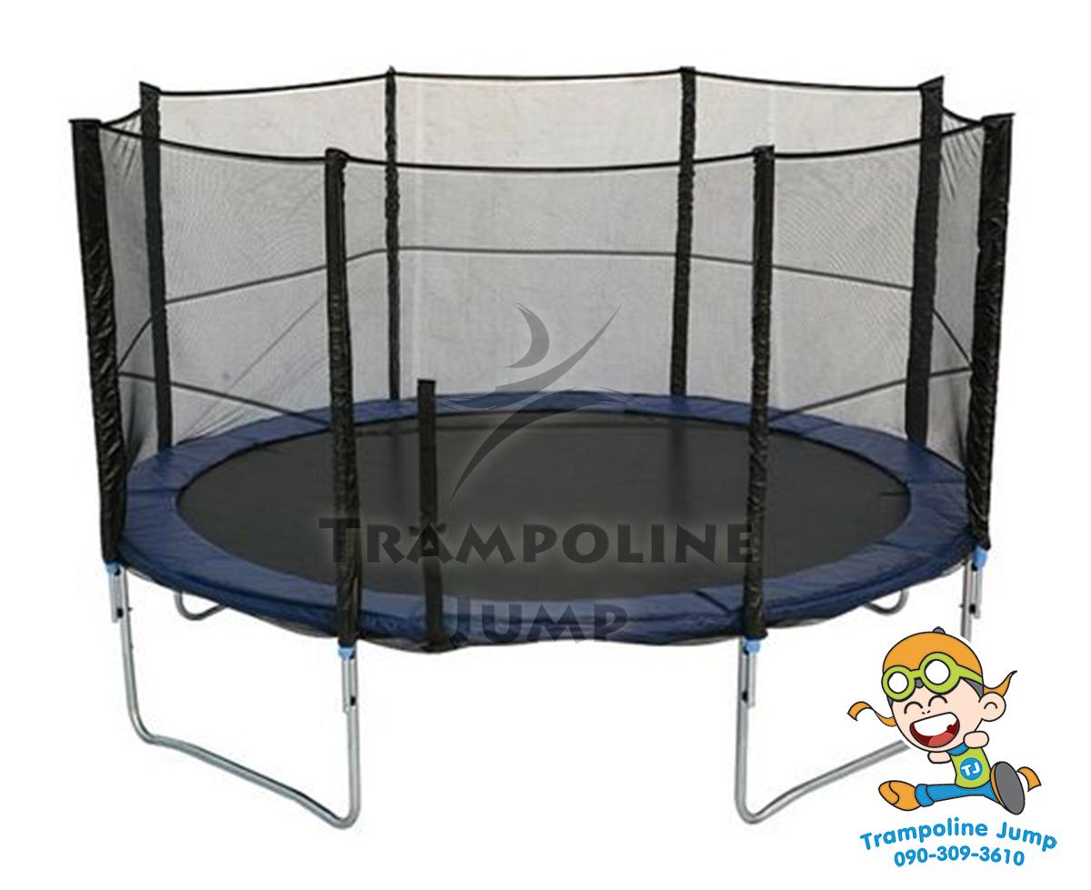 แทรมโพลีน 12 ฟุต สปริงบอร์ด trampoline เครื่องออกกำลังกายเพิ่มความสูง สำหรับ 5 คน