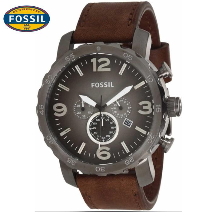 นาฬิกา FOSSIL JR1424 Men Watch Chronograph Leather Strap Chronograph 50 mm
