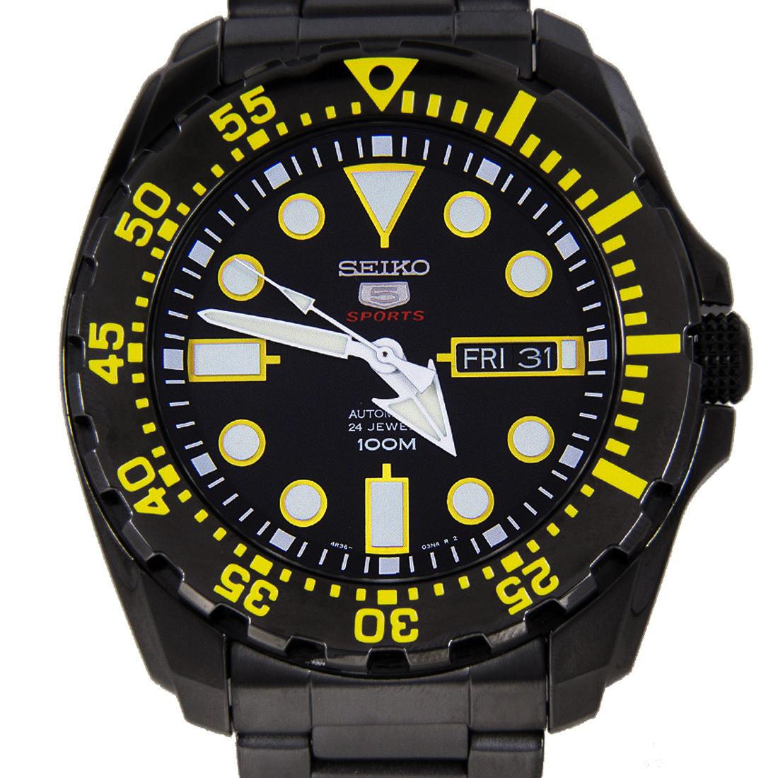 SEIKO 5 Sport Submarine Super Black SRP607K