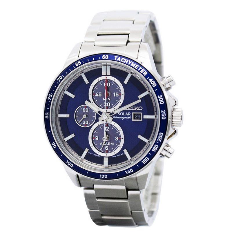 นาฬิกา Seiko Men Chronograph Solar System Blue SSC431P