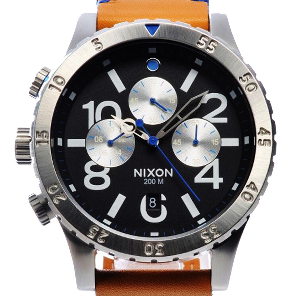นาฬิกา NIXON Men Chronograph Chronograph Brown Leather Watch A3631602 48-20