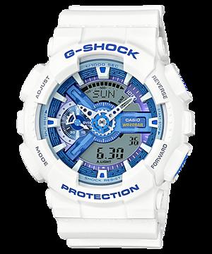 Casio G-Shock White & Blue series รุ่น GA-110WB-7A