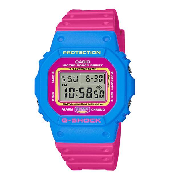 Casio G-Shock DW-5600TB Throwback '80s Street Fashion Colors รุ่น DW-5600TB-4B
