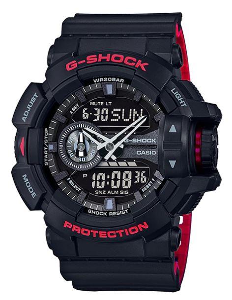 Casio G-Shock Limited Black & Red (HR) series รุ่น GA-400HR-1