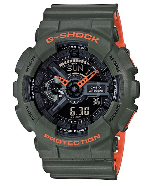 Casio G-Shock GA-110LN Layered Neon colors series รุ่น GA-110LN-3A