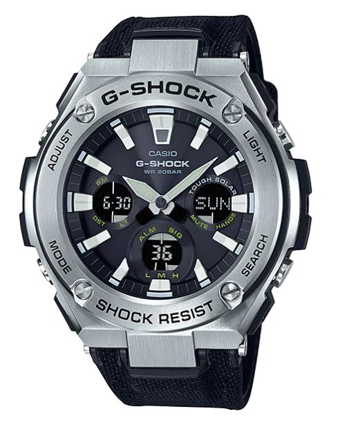 Casio G-Shock G-STEEL GST-S130C CORDURA Band series รุ่น GST-S130C-1A