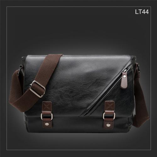 LT44 กระเป๋าสะพายข้าง หนัง PU สีดำ