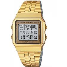 CASIO รุ่น A500WGA-9D DATABANK World time Lady Watch