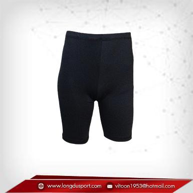 กางเกงรัดกล้ามเนื้อ ผ้าSpandex ขาสั้น สีดำ