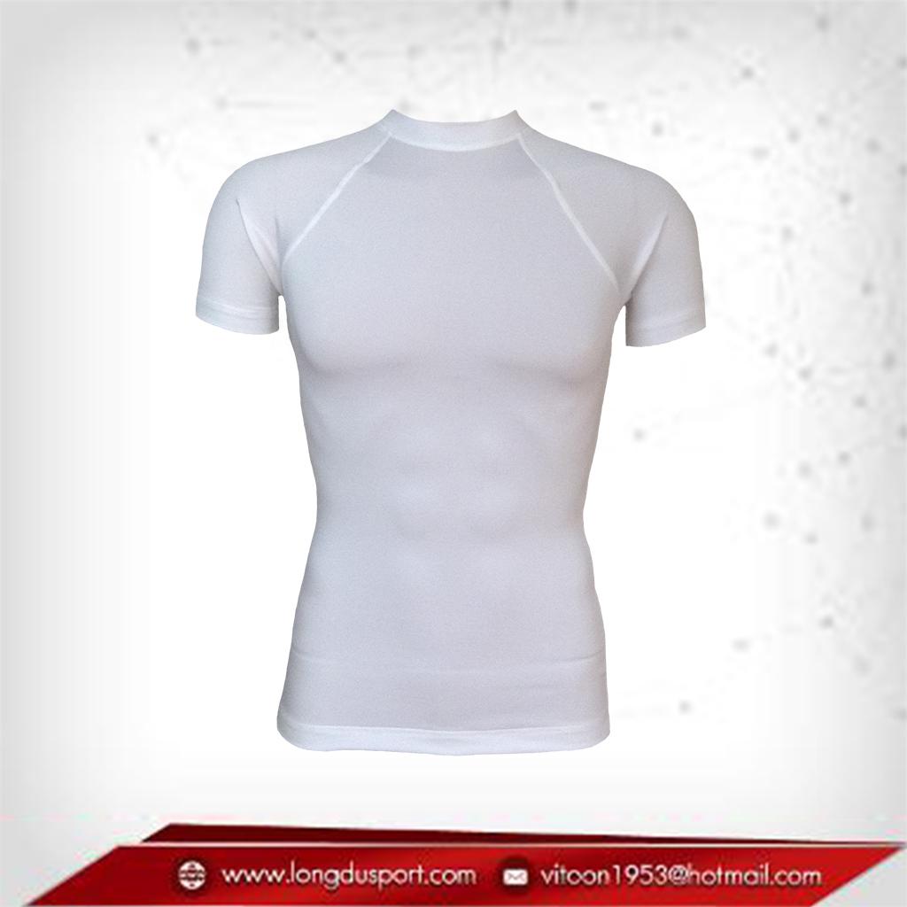 เสื้อรัดกล้ามเนื้อ Body Fit แขนสั้น คอกลม สีขาว สินค้าหมดชั่วคราว