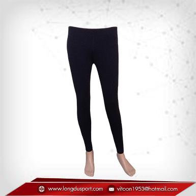 กางเกงรัดกล้ามเนื้อผ้า Spandex ขายาว สีดำ