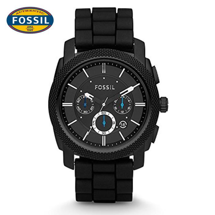 นาฬิกา FOSSIL FS4487 Men Watch Chronograph Rubber นาฬิกาสายหนัง Chronograph