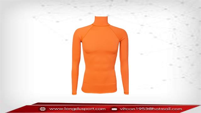 เสื้อรัดกล้ามเนื้อแขนยาว สีส้ม