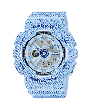 Casio Baby-G Limited Denim Color series รุ่น BA-110DC-2A3