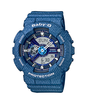 Casio Baby-G Limited Denim Color series รุ่น BA-110DC-2A2