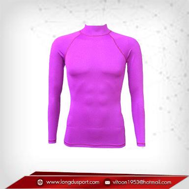 เสื้อรัดรูป Body Fit แขนยาวคอตั้ง สีม่วง mediumorchid