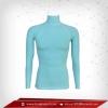 เสื้อรัดรูป Body Fit แขนยาวคอตั้ง สีฟ้า Paleturquoise