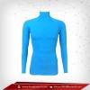 เสื้อรัดกล้ามเนื้อ Rash Guard แขนยาวคอตั้ง สีน้ำฟ้า dodgerblue