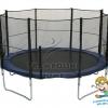 แทรมโพลีน 14 ฟุต สปริงบอร์ด trampoline ขนาดใหญ่ สำหรับเด็ก 6-7 คน