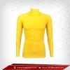 เสื้อรัดกล้ามเนื้อ Rash Guard แขนยาวคอตั้ง เหลือง