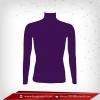 เสื้อรัดรูป Bodyfit แขนยาวคอตั้ง สีม่วง pentone 2627