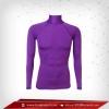 เสื้อรัดรูป Bodyfit แขนยาวคอตั้ง สีม่วง darkorchid