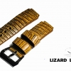 Brown Genuine Leather Back Lizard Leather Watch Strap Pam Buckle 24/20 mm สำเนา