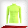 เสื้อรัดกล้ามเนื้อ Rash Guard แขนยาวคอตั้ง เขียว-เหลือง greenyellow