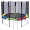 แทรมโพลีน 10 ฟุต colorful สปริงบอร์ดออกกำลังกาย เพิ่มความสูง สำหรับ เด็ก 4 คน