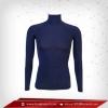 เสื้อรัดรูป Body Fit แขนยาวคอตั้ง สีน้ำเงินเข้ม midnightblue