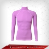 เสื้อรัดรูป Bodyfit แขนยาวคอตั้ง สีม่วง plum