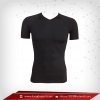 เสื้อรัดกล้ามเนื้อ Bodyfit แขนสั้นคอวี สีดำ เหลือ Size L