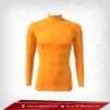 เสื้อรัดกล้ามเนื้อ Rash Guard แขนยาวคอตั้ง ส้ม orange