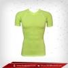 เสื้อรัดมเนื้อเนื้อ Bodyfit แขนสั้นคอวี สี เขียว lawngreen